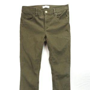 Loft army green jean leggings 27